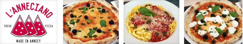 Restaurant l'Anneciano, Gastronomie italienne : Pizza, pâtes...
