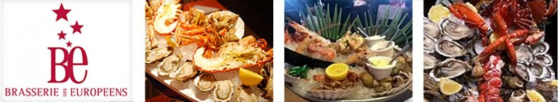Les fruits de mer de La Brasserie des Européens